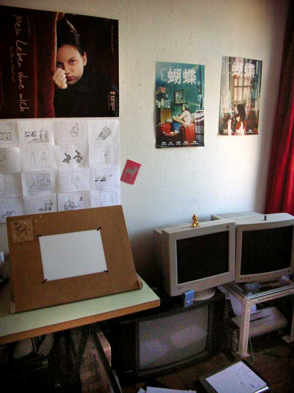 Photo of the Hu Die-Posters in my room.